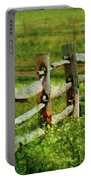 Farm - Fence - The Old Fence Post  Portable Battery Charger