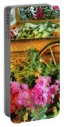 Farm - Food - At The Farmers Market Portable Battery Charger