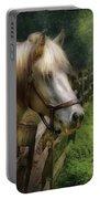 Farm - Horse - White Stallion Portable Battery Charger