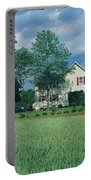 Farm House And Spring Field, Maryland Portable Battery Charger