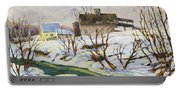 Farm In Winter Portable Battery Charger