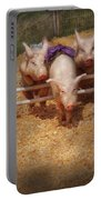 Farm - Pig - Getting Past Hurdles Portable Battery Charger
