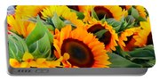 Farm Stand Sunflowers #8 Portable Battery Charger