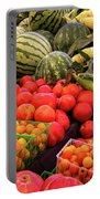 Farm To Market Produce - Melons, Corn, Tomatoes Portable Battery Charger
