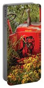 Farm - Tractor - A Pony Grazing Portable Battery Charger by Mike Savad