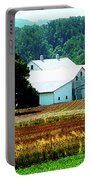 Farm With White Silos Portable Battery Charger