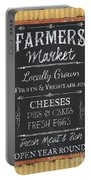 Farmer's Market Signs Portable Battery Charger