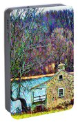 Farmhouse By The Lake Portable Battery Charger