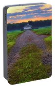 Farmhouse Sunrise - Arkansas - Landscape Portable Battery Charger