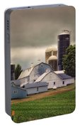 Farming Before The Storm Finger Lakes New York 04 Portable Battery Charger