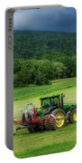 Farming New York State Before The July Storm 02 Portable Battery Charger