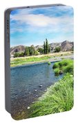 Farmland Along John Day River Portable Battery Charger