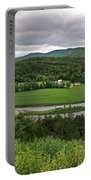 Farmland View Over The Connecticut River  Portable Battery Charger