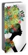 Fashion Girl With Hair Arabesque Portable Battery Charger