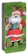 Father Christmas And Robin Chorus Portable Battery Charger