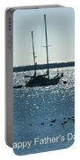 Father's Day Card - Peaceful Bay Portable Battery Charger