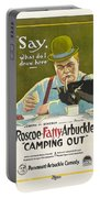 Fatty Arbuckle In Camping Out 1919 Portable Battery Charger