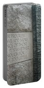Fdr Memorial - Shared Sacrifice Portable Battery Charger