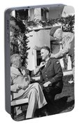 Fdr Presenting Medal Of Honor To William Wilbur Portable Battery Charger