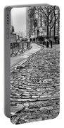 Fearless Girl And Wall Street Bull Statues 3 Bw Portable Battery Charger