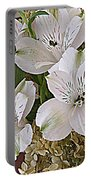 February Flowers Portable Battery Charger