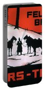 Feldpost-briefe - Beyers-tinten - Two Man With Horses - Retro Travel Poster - Vintage Poster Portable Battery Charger