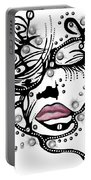 Female Abstract Face Portable Battery Charger by Darren Cannell