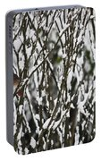 Female Cardinal In The Snow Portable Battery Charger