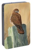 Female Kestrel Study Portable Battery Charger