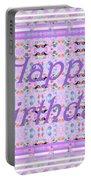 Feminine Lavender Birthday Card Portable Battery Charger
