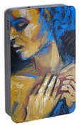 Feminine - Portrait Of A Woman Portable Battery Charger