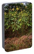 Fence Line Sunflowers Portable Battery Charger