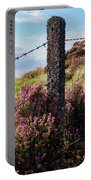 Fence Post In The Peak District Portable Battery Charger