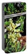 Fence-yucca-rock Portable Battery Charger
