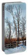 Fenced In Landscape Portable Battery Charger