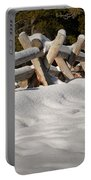 Fenced In White Portable Battery Charger
