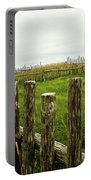 Fences In A Stormy Light Portable Battery Charger