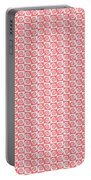 Fermat Spiral Pattern Effect Pattern Red Portable Battery Charger