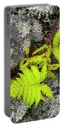 Fern And Lichen Portable Battery Charger
