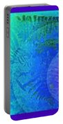 Fern Strip 5 Blue Green Portable Battery Charger