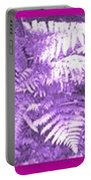 Ferns Strip 5 Blue Purple Portable Battery Charger