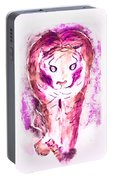 Ferocious Cat Portable Battery Charger by Myrna Migala