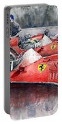 Ferrari Dino 246 F1 1958 Mike Hawthorn French Gp  Portable Battery Charger by Yuriy Shevchuk