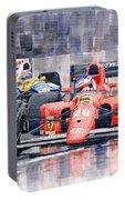 1991 Ferrari F1 Jean Alesi Phoenix Us Gp Arizona 1991 Portable Battery Charger