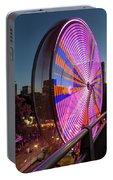 Ferris Wheel At Fun Fair In Downtown Portland Oregon Portable Battery Charger