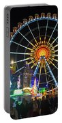 Ferris Wheel At Night Portable Battery Charger