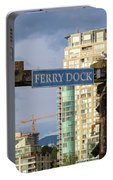 Ferry Dock At Granville Island In Vancouver Bc Closeup Portable Battery Charger