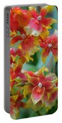 Festive Orchids Portable Battery Charger