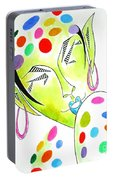 Fey -- The Original -- Fantasy Elf Portrait With Polka Dots Portable Battery Charger