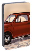 Fiat 500 1957 Painting Portable Battery Charger